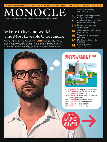 Cover of Monocle magazine July/August 2009.