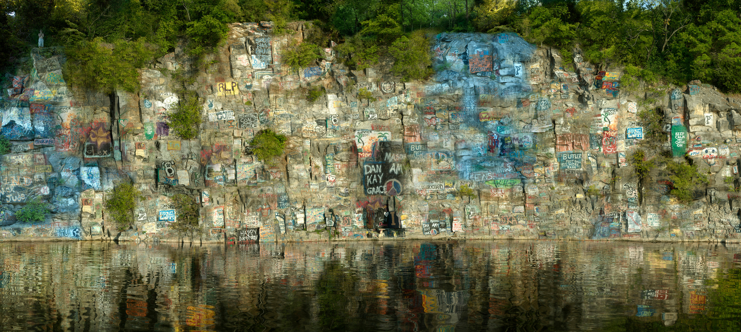 Photo collage of river bank by Elena Dorfman.